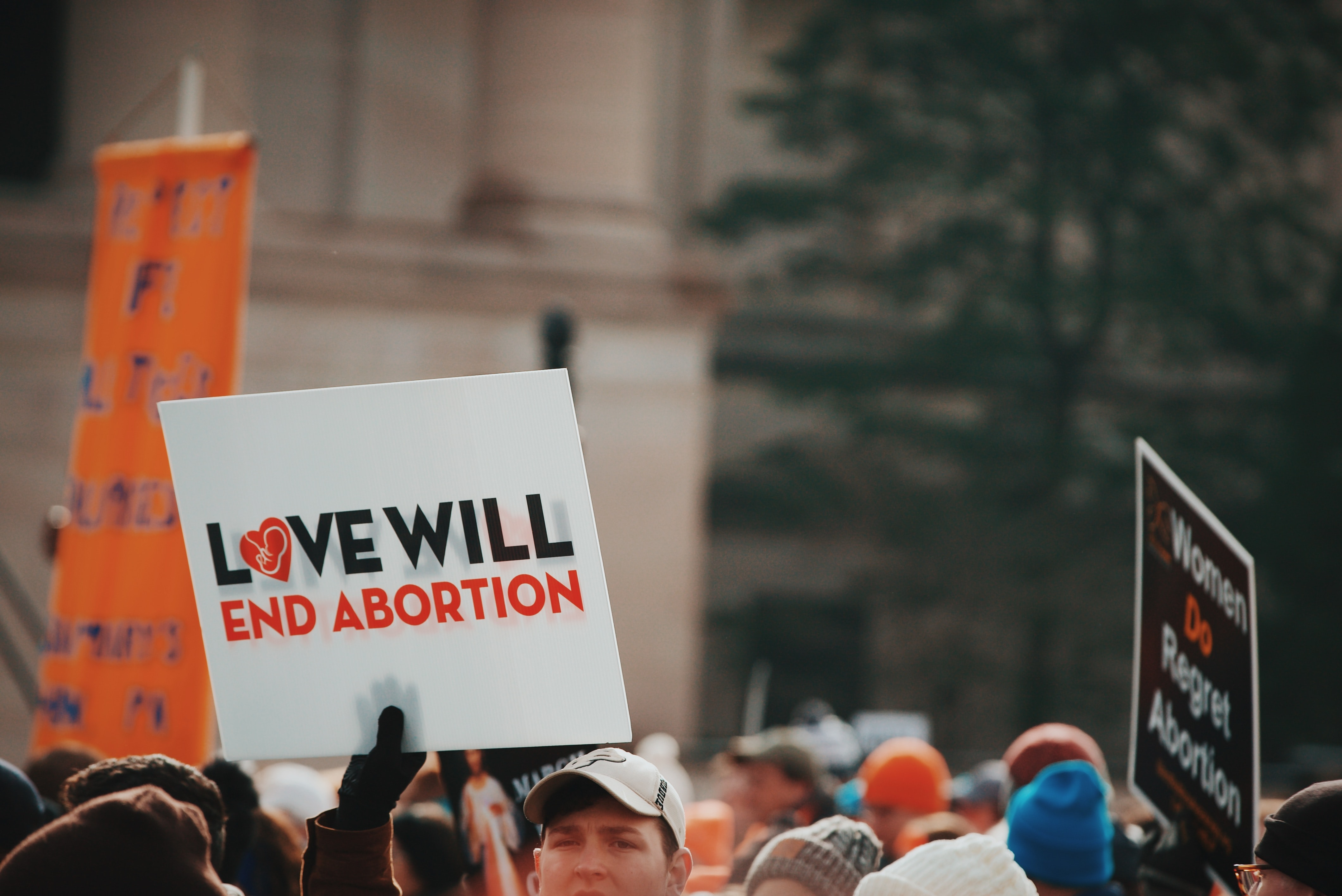 love will end abortion sign
