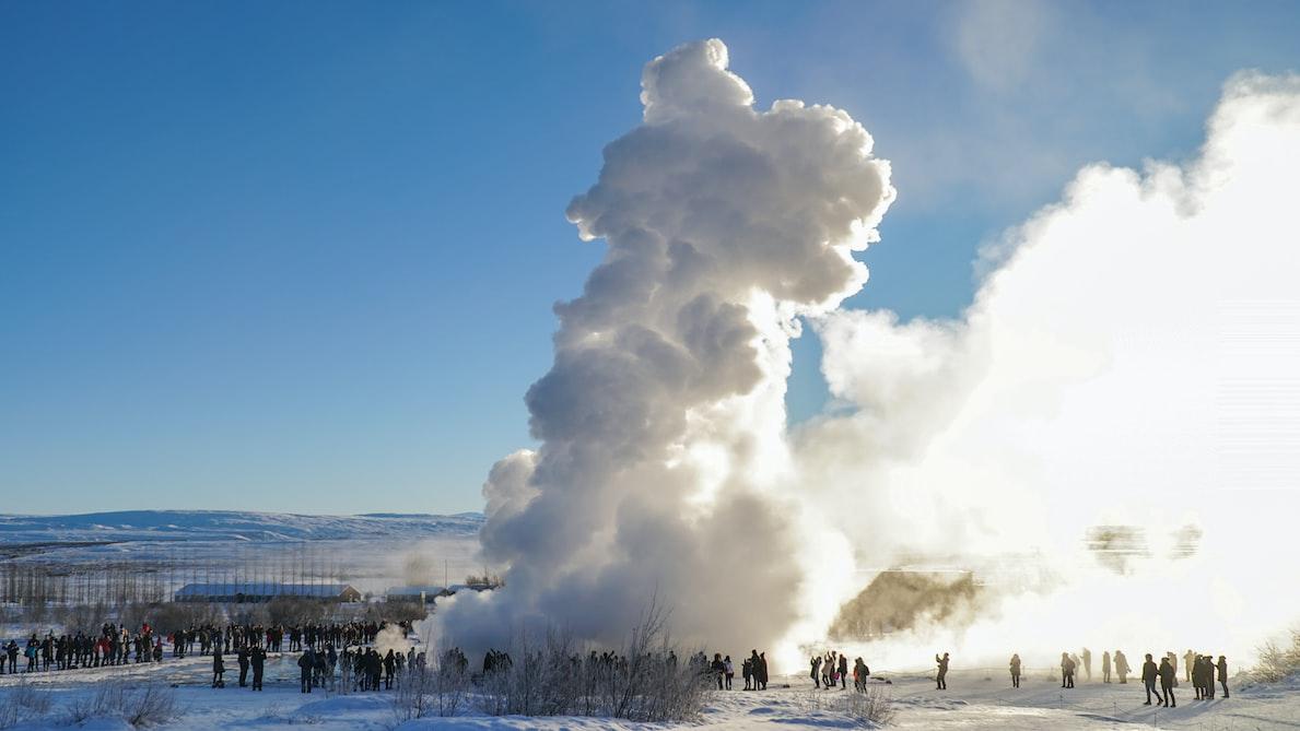 Selfoss Geyser in Iceland