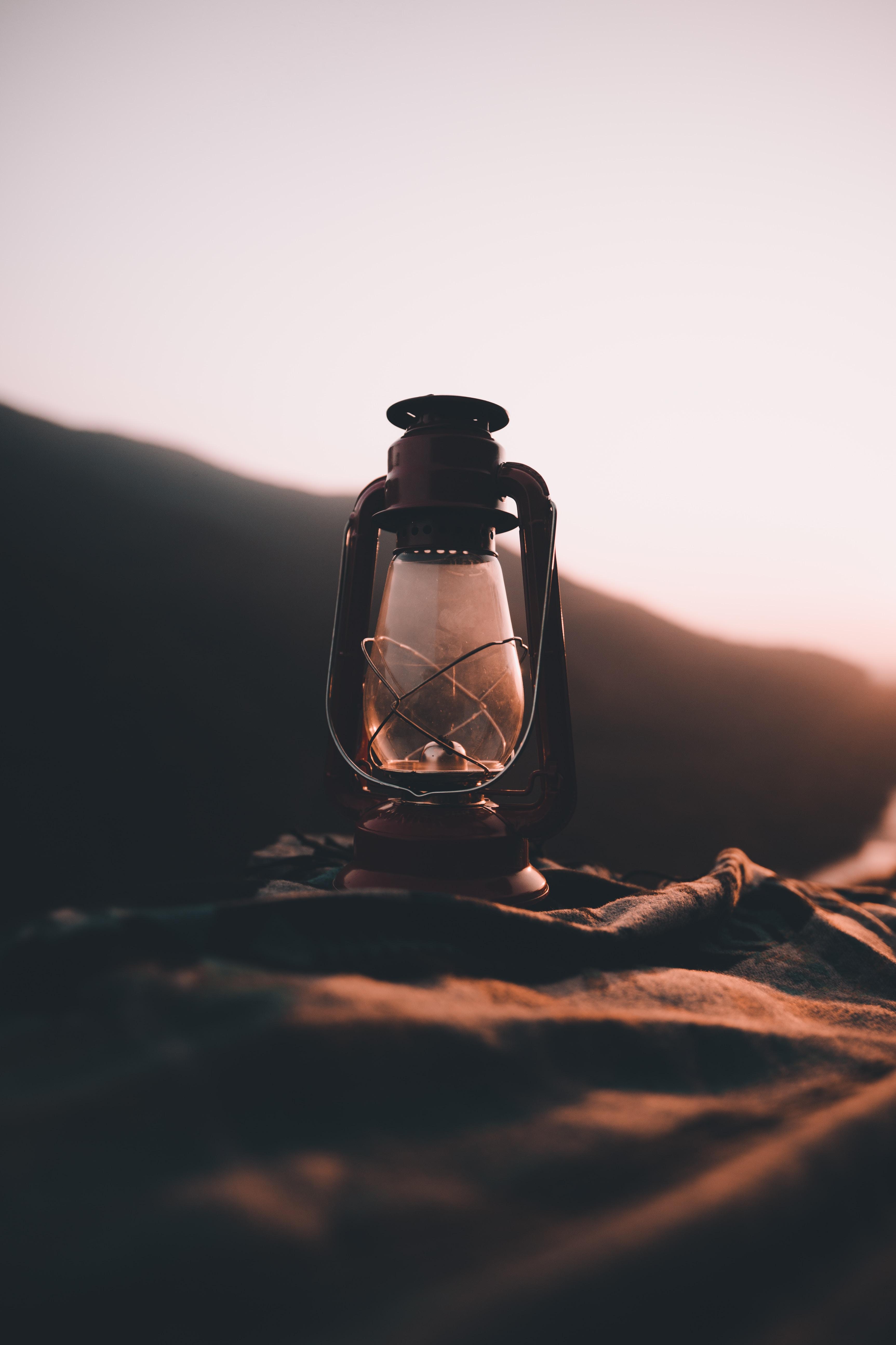 turned-off oil lantern