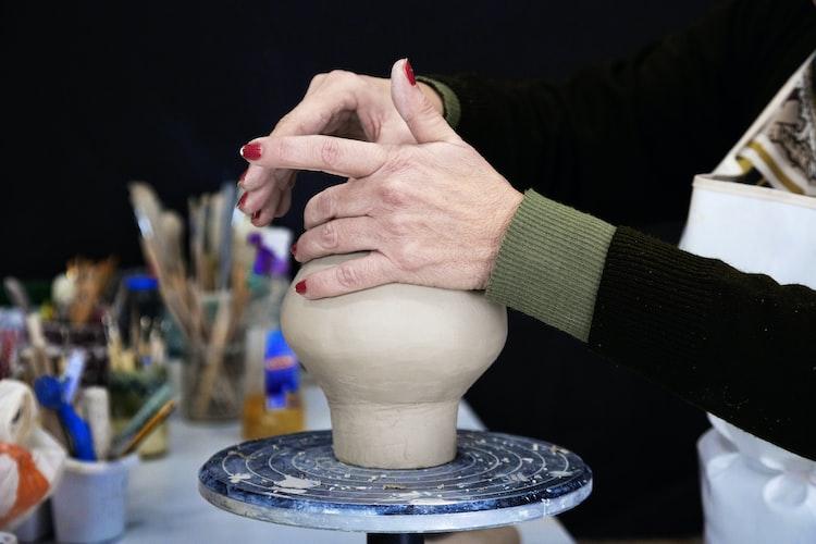 A woman molding
