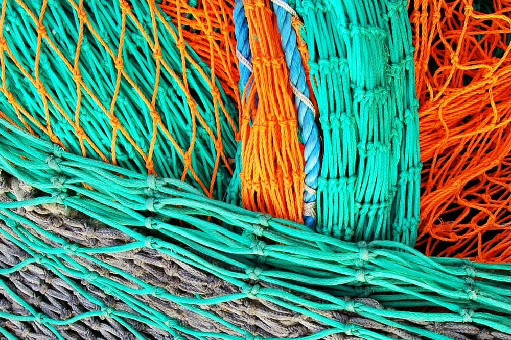 teal and orange ropes