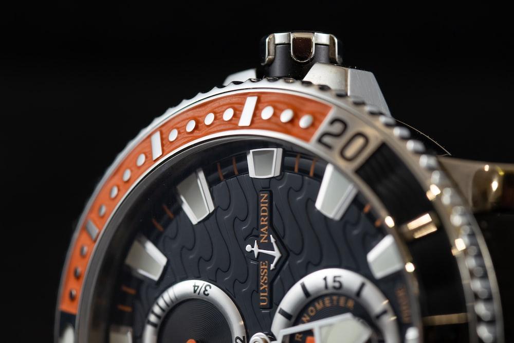 round black chronograph watch
