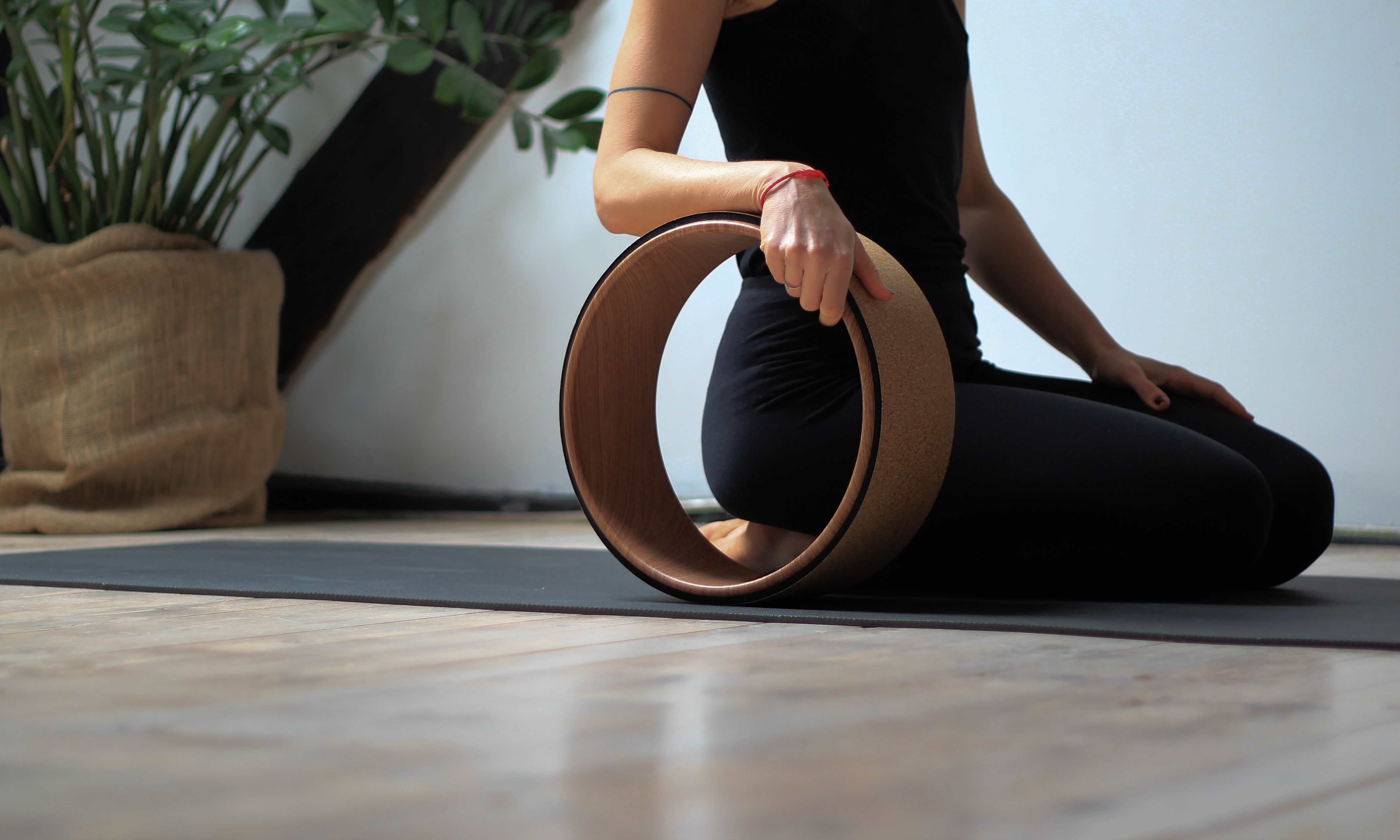 person holding brown exercise equipment