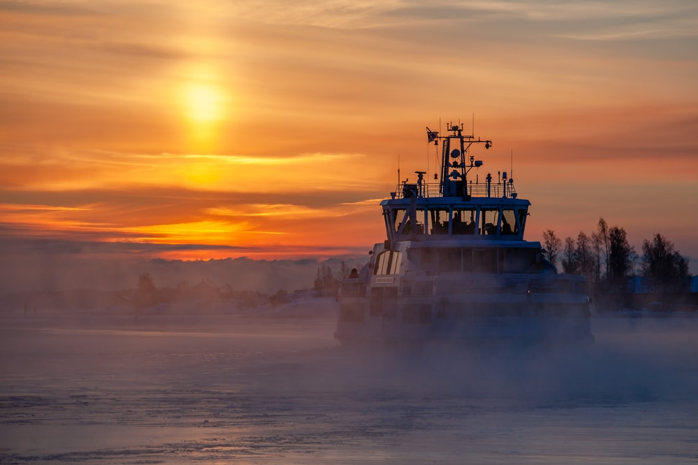 sailboat during golden hour