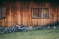 red and white dirt bike