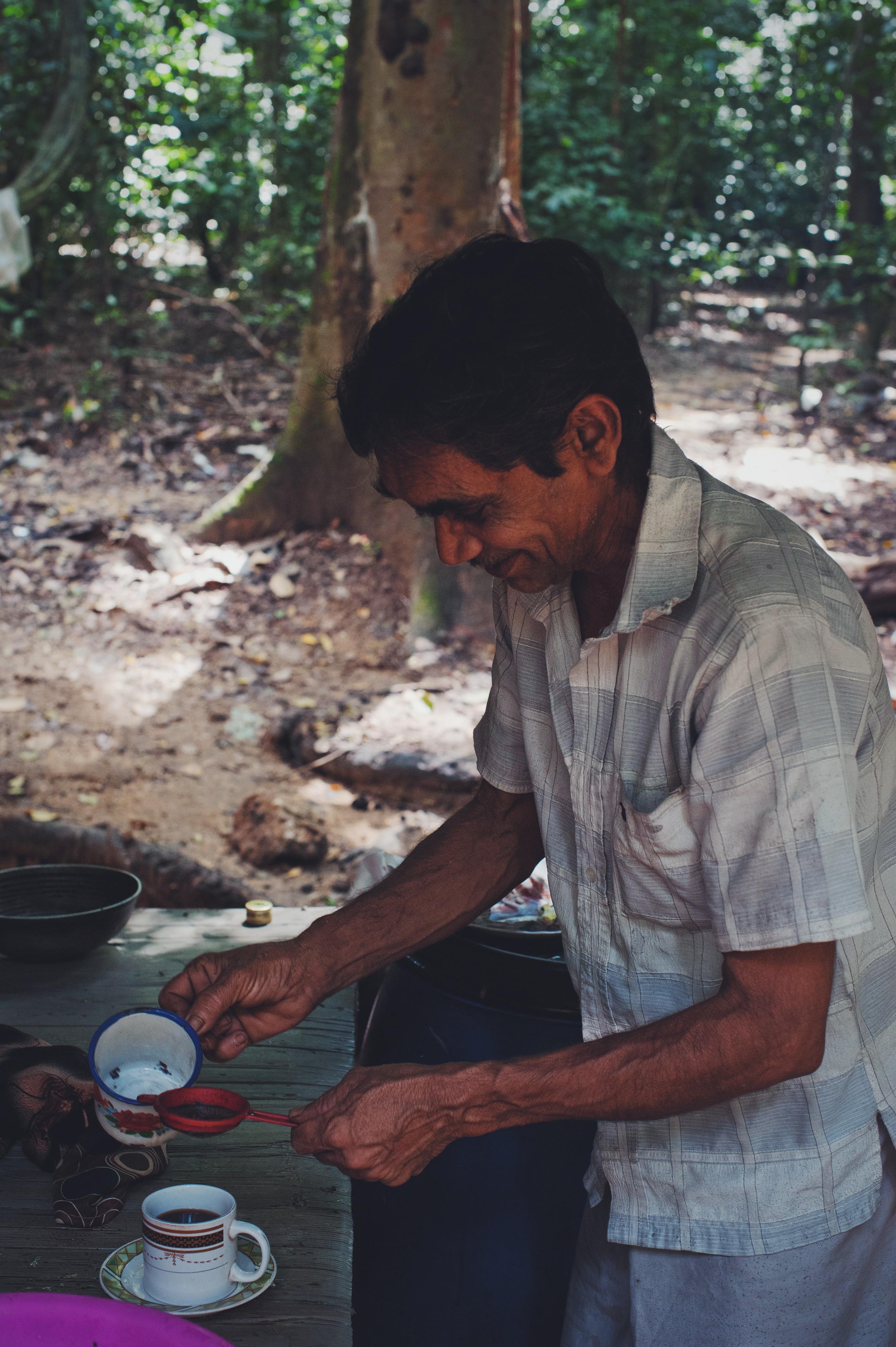 man wearing grey button-up shirts
