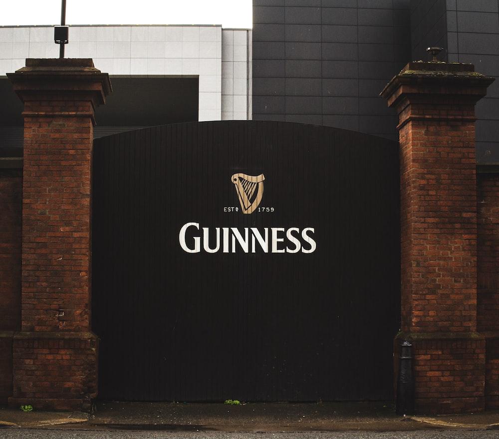 black Guinness gate