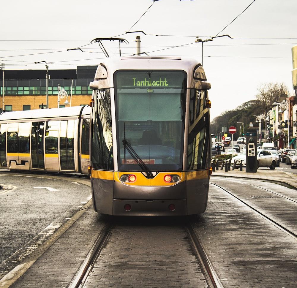 black and yellow train