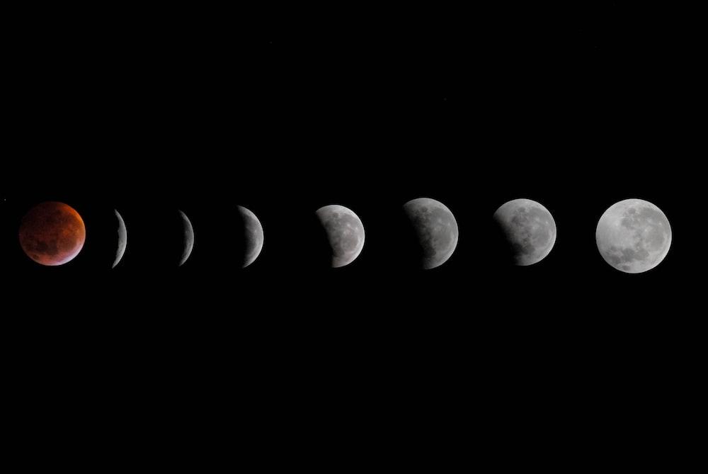phases moon illustration