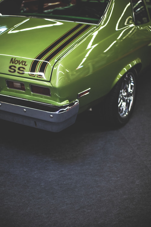 green Chevrolet Nova SS