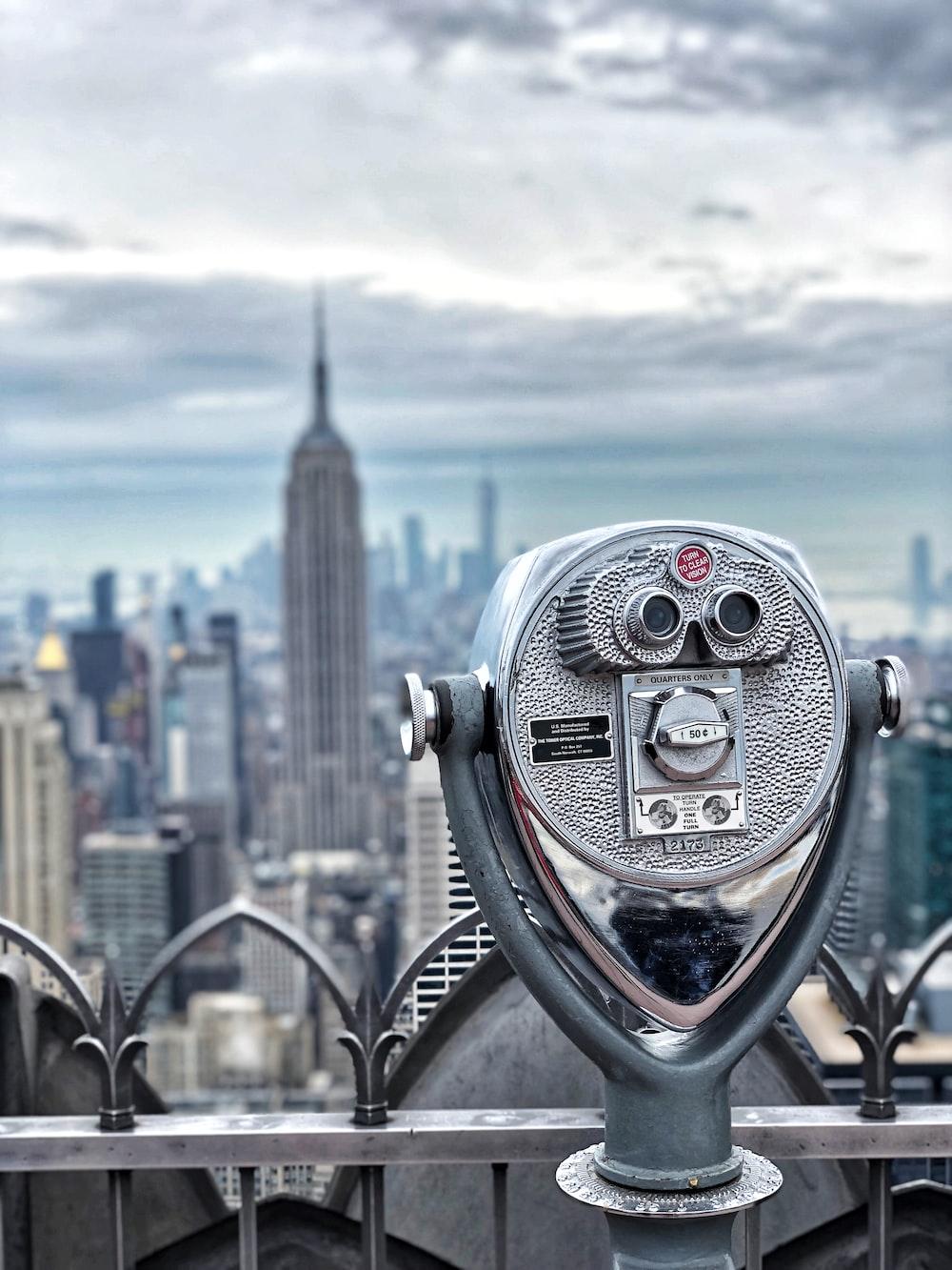 gray cityscape telescope
