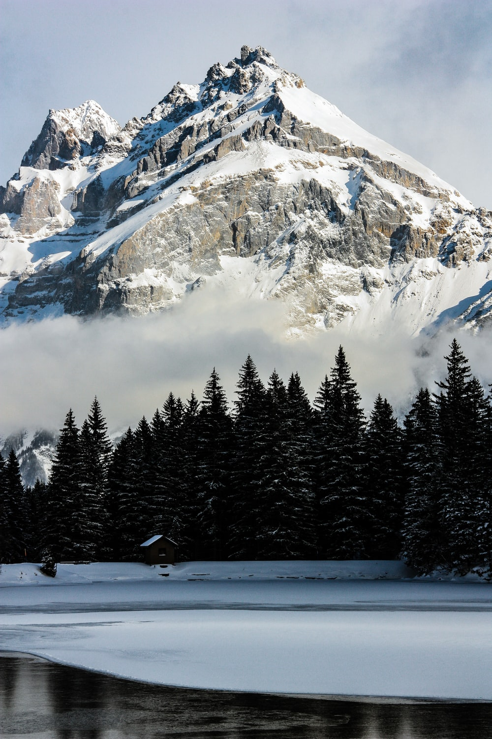mountains covered by snow during daytime