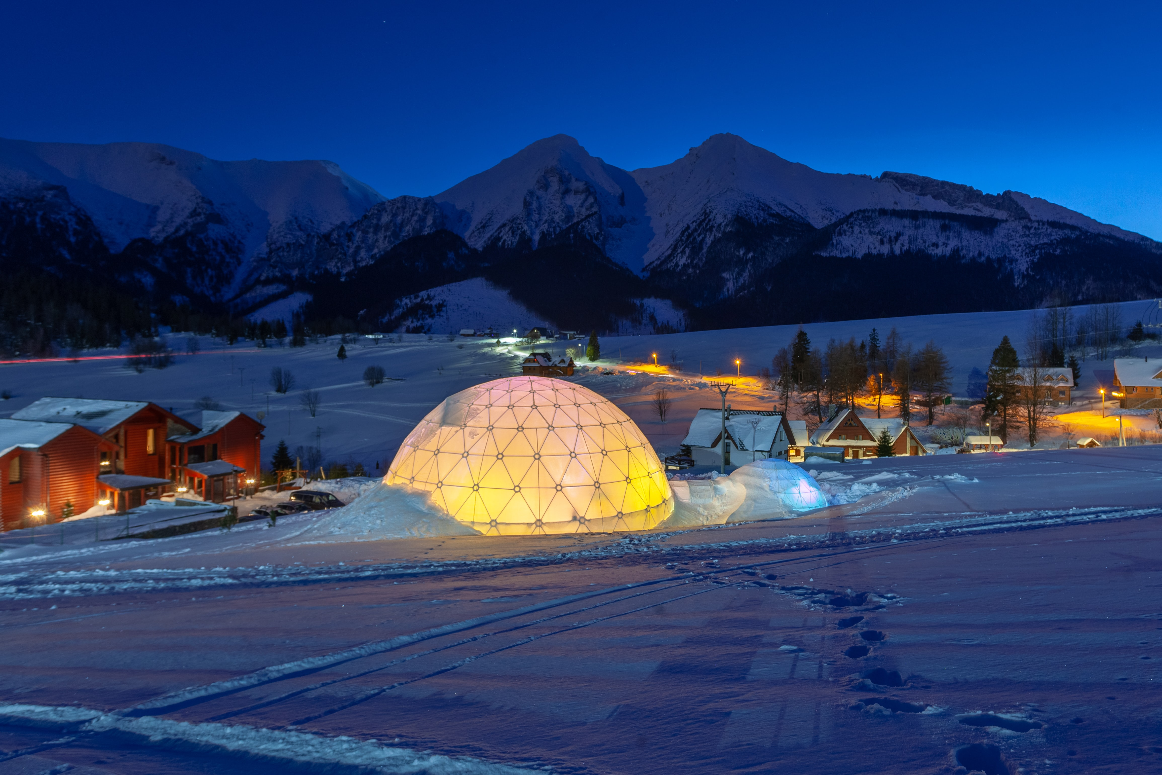 lighted dome building