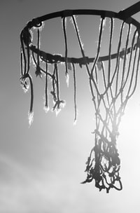 wrecked basketball net