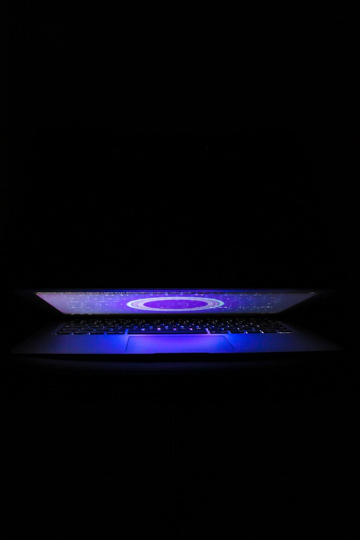 slightly opened laptop computer