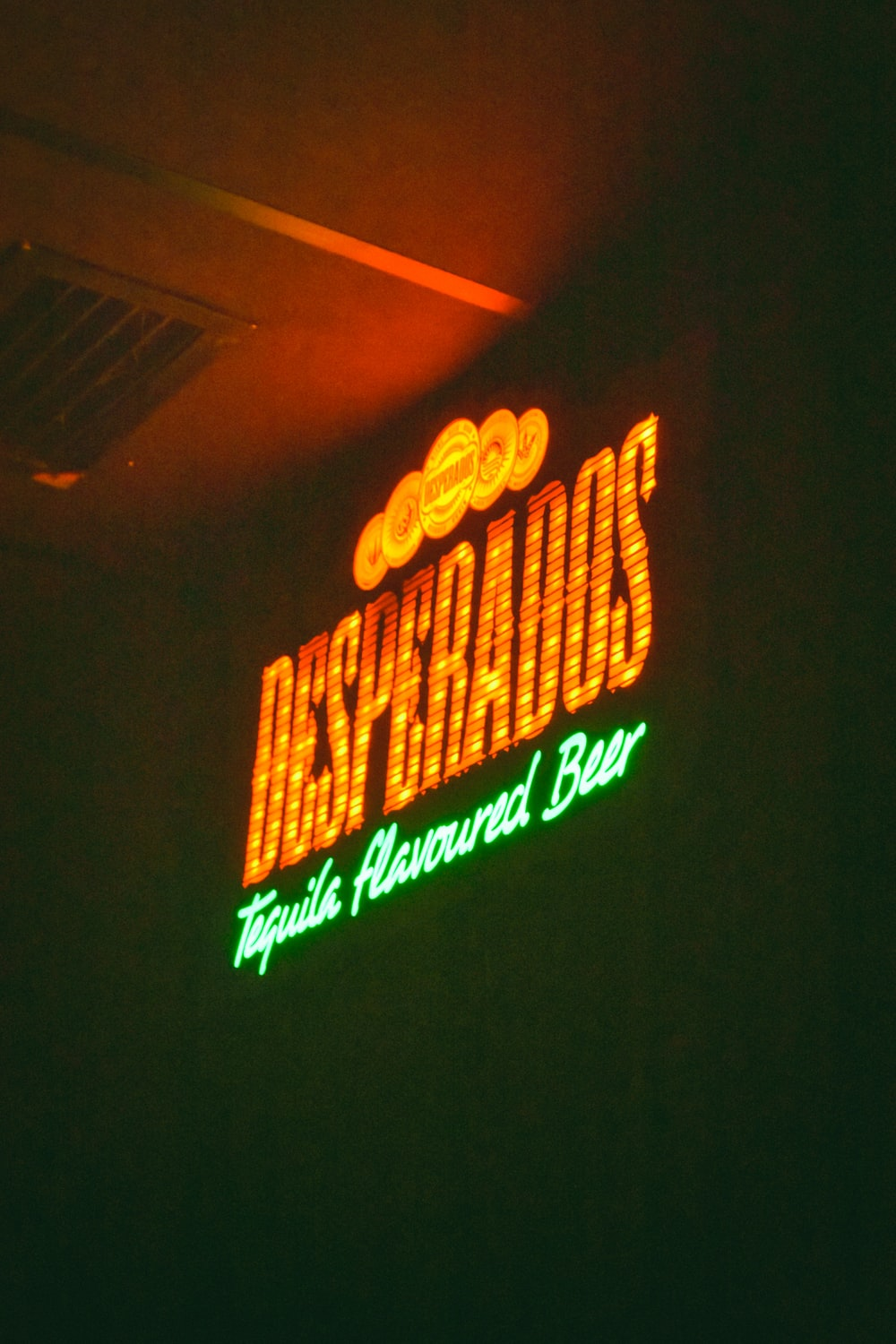 Desperados lighted signage