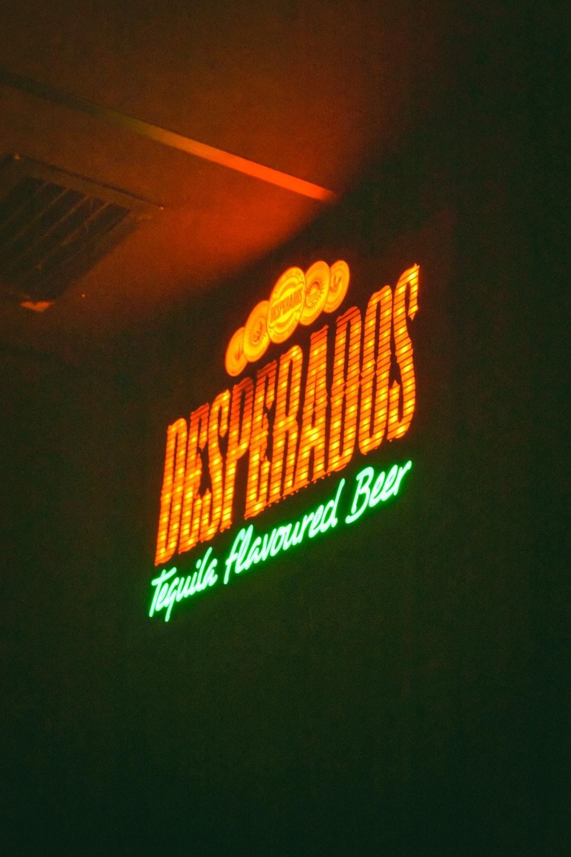 Desperados lighted signage