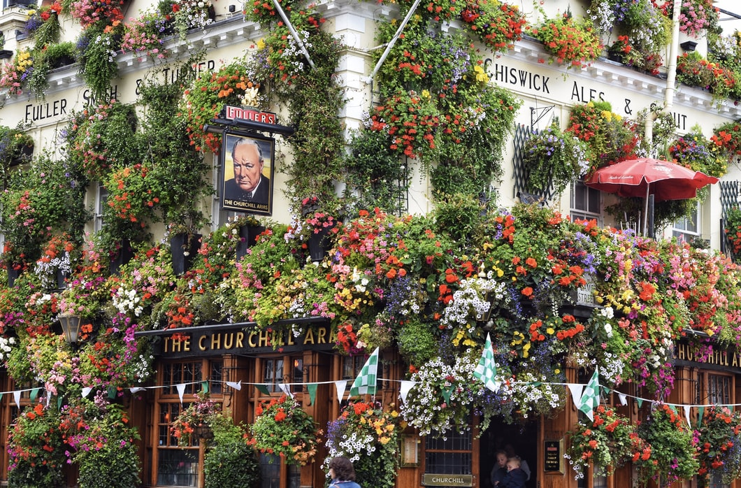 Visit the churchill arms pub: Day trip in Notting Hill