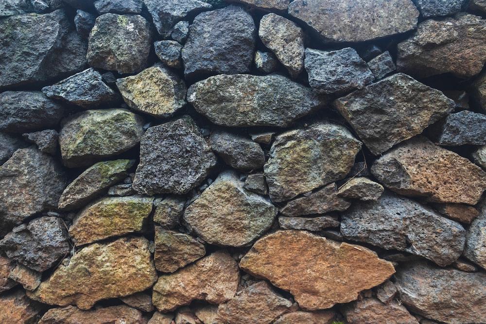 pile of brown rocks