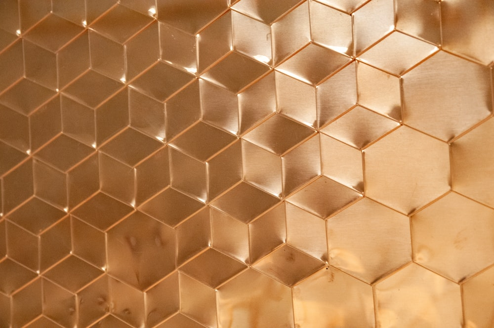 brown honeycomb panel