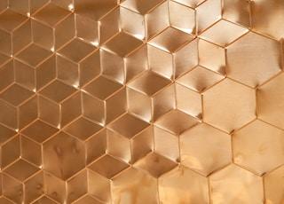 brown honeycomb panel