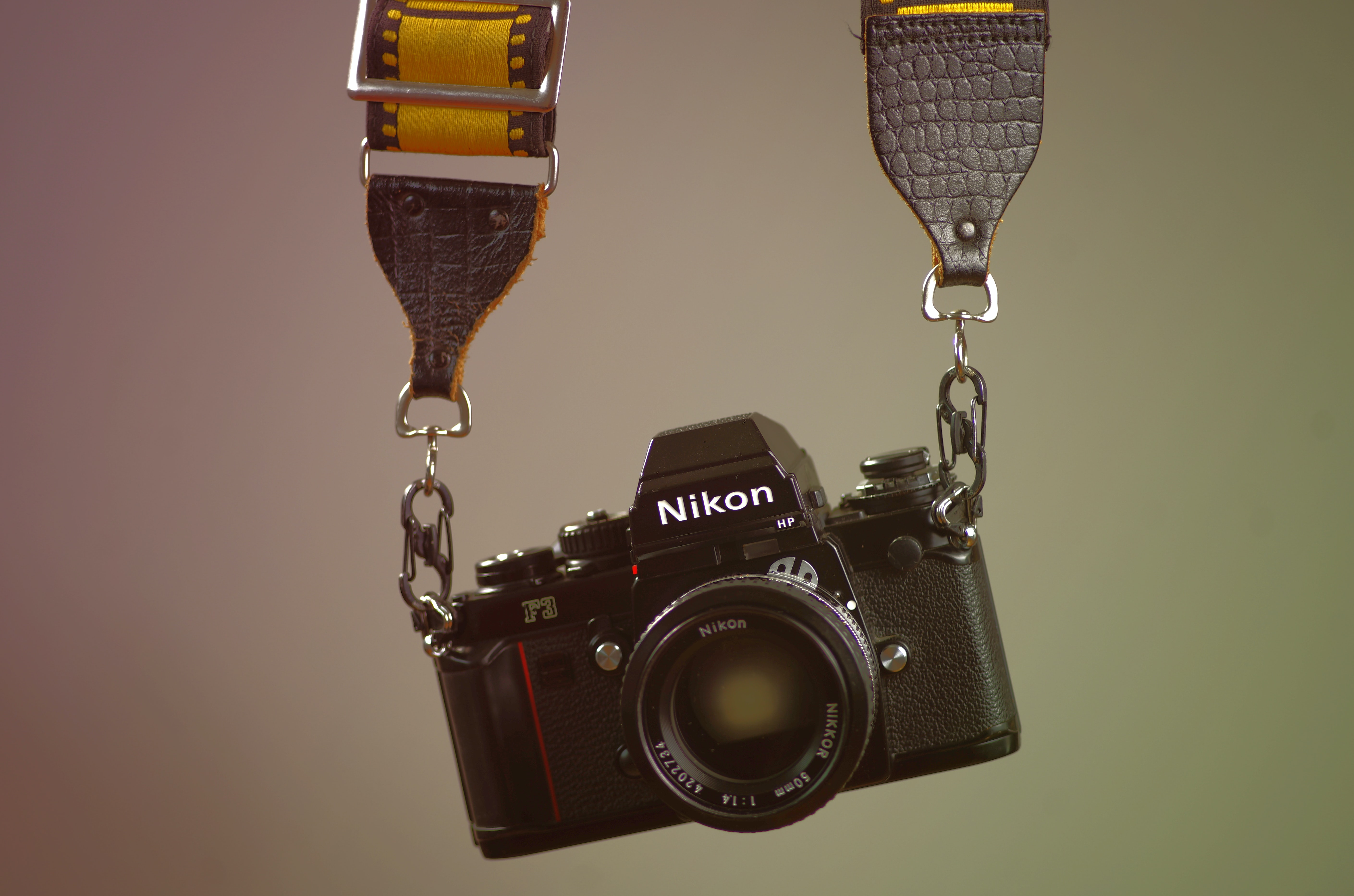 hanged black Nikon bridge camera