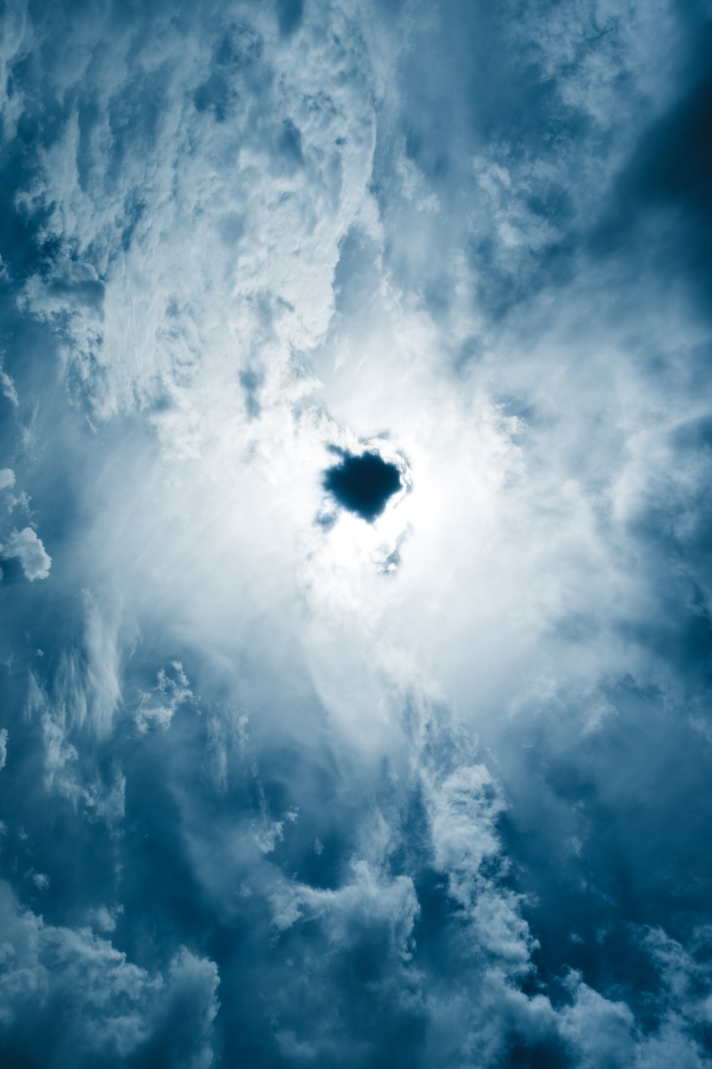 low angle photography of clouds