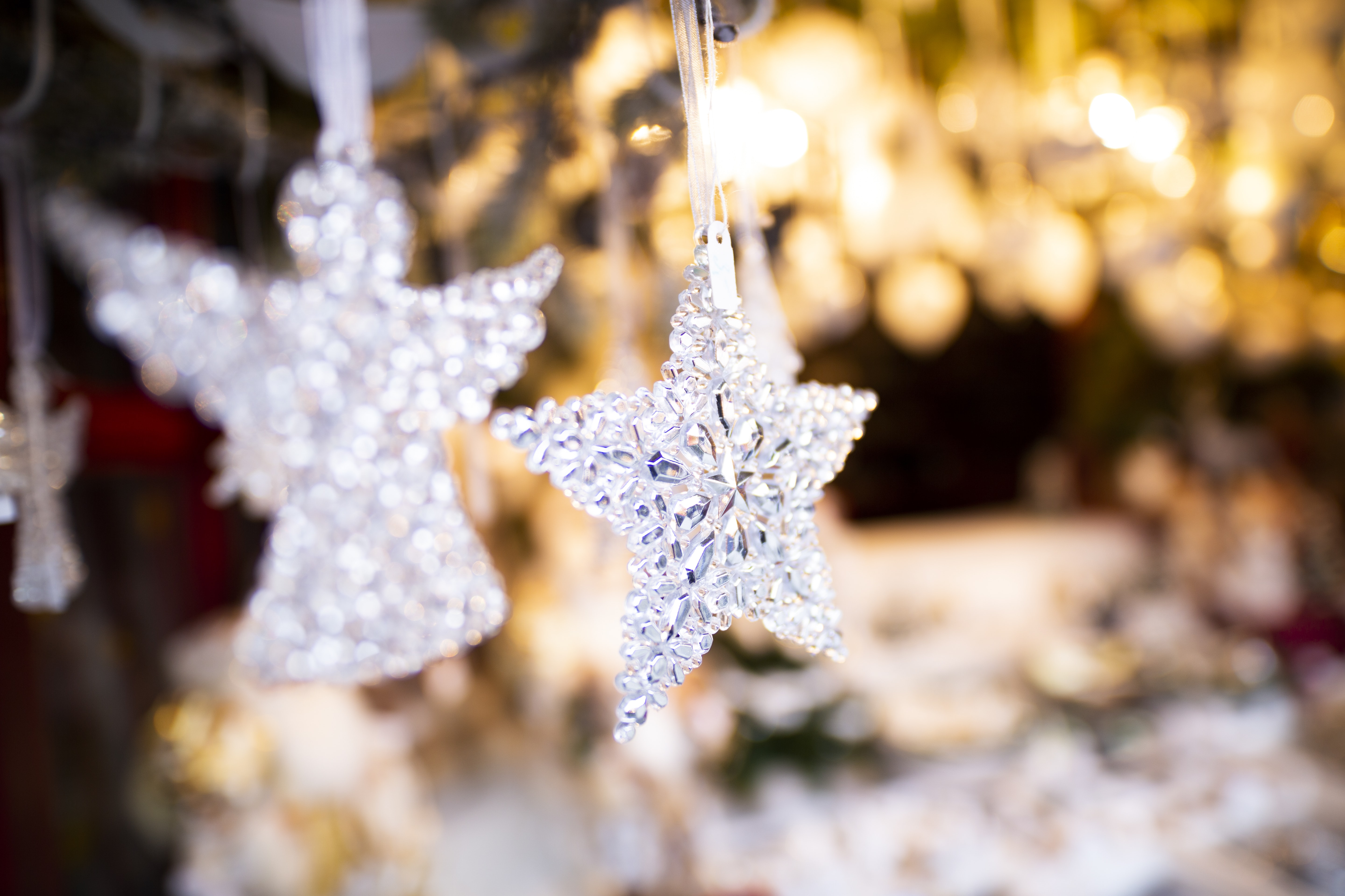 angel and star glass ornaments
