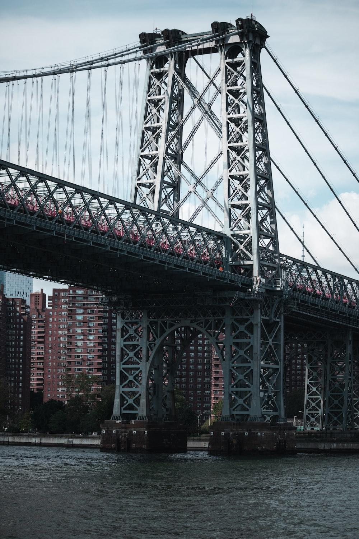 gray metal bridge view during day