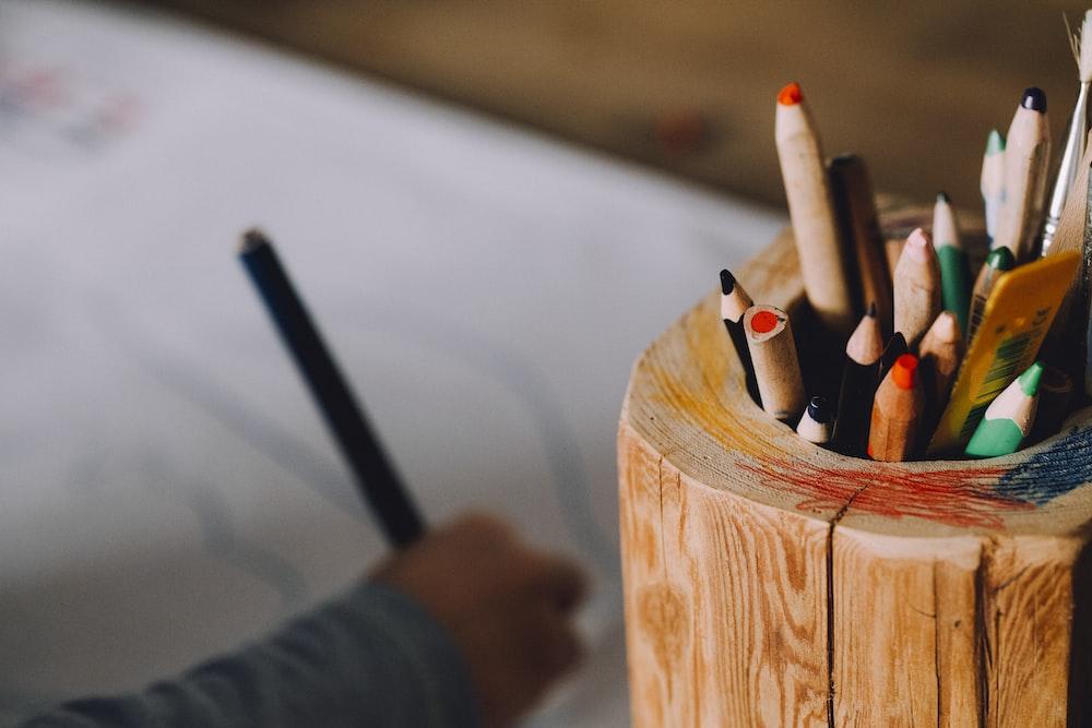color pencils in case