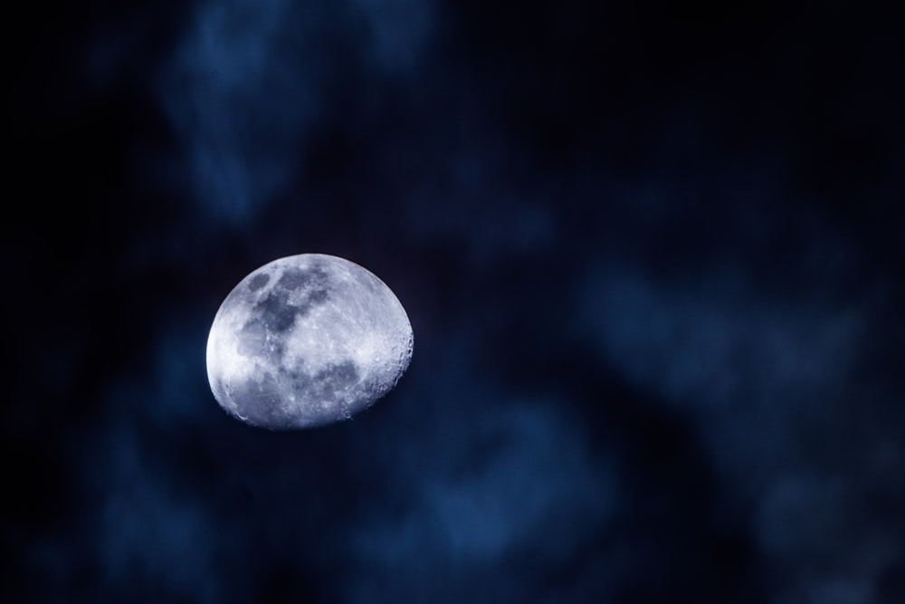 moon covered by sky