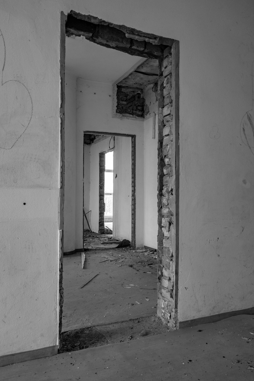 white concrete wall ruin