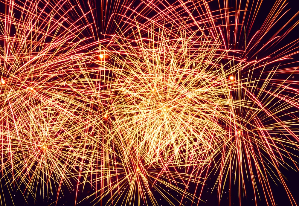 timelapse photo of fireworks