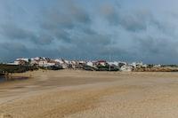 villages under cloudy sky