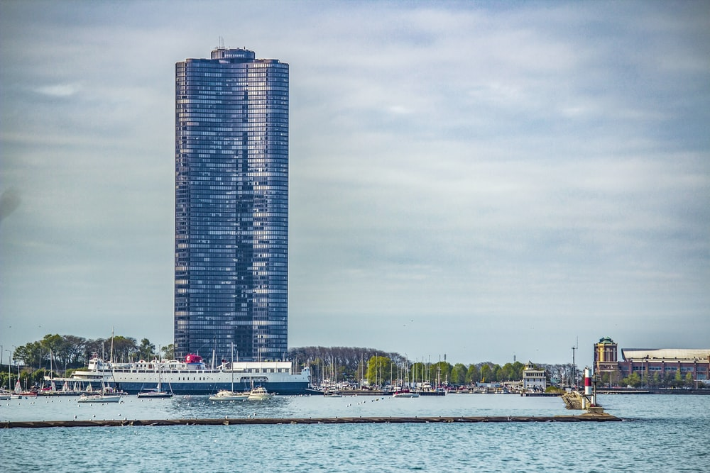 blue high rise building under blue sky