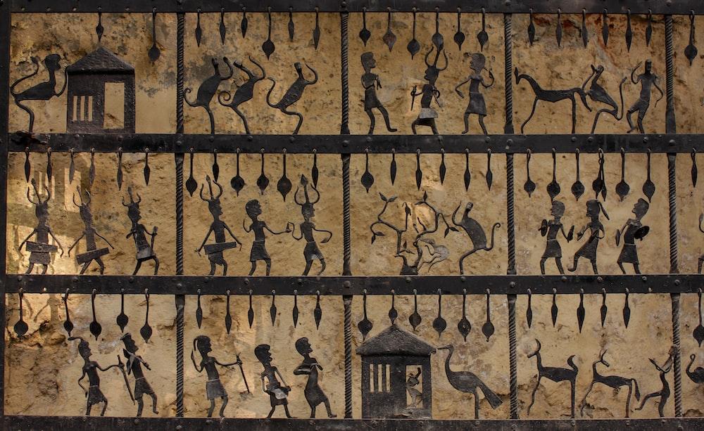 god pharoah wall carved