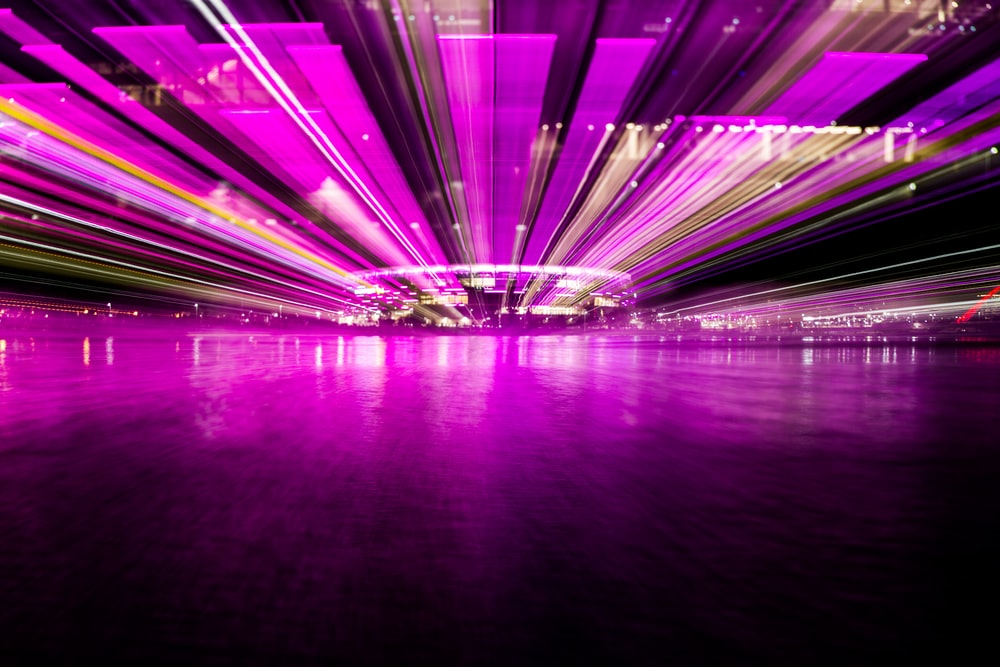 purple 3D lightning wallpaper