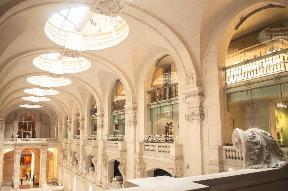 light through building ceiling