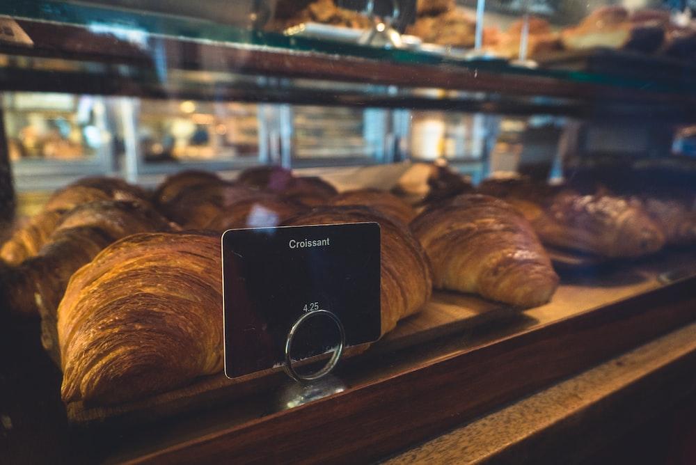 croissants on display