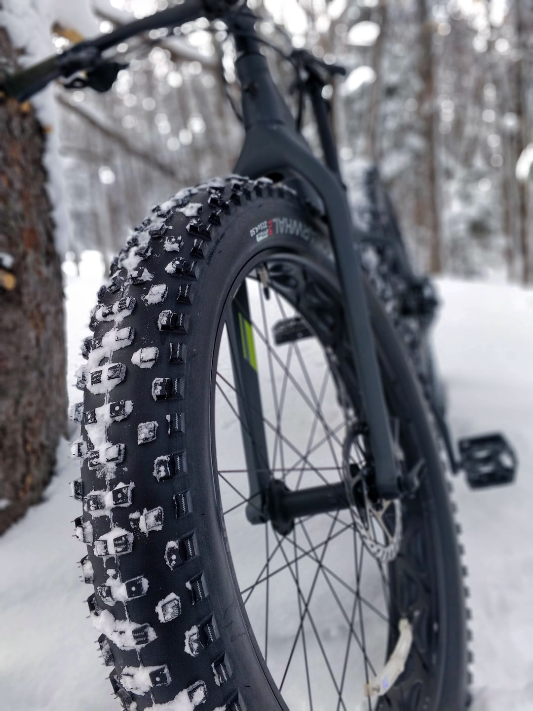 2019 Trek Farley 5 riding the Swedetown trails in the cold & snowy Upper Peninsula of Michigan.