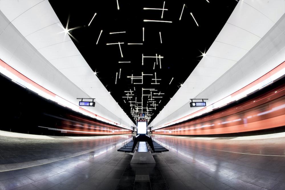 gray and black airport interior