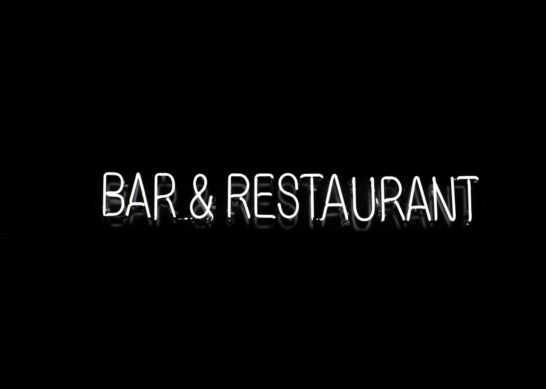 bar & restaurant text