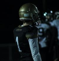 person wearing football gear