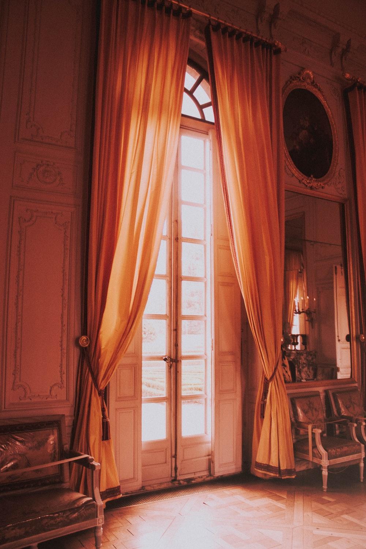 brown grommet curtains