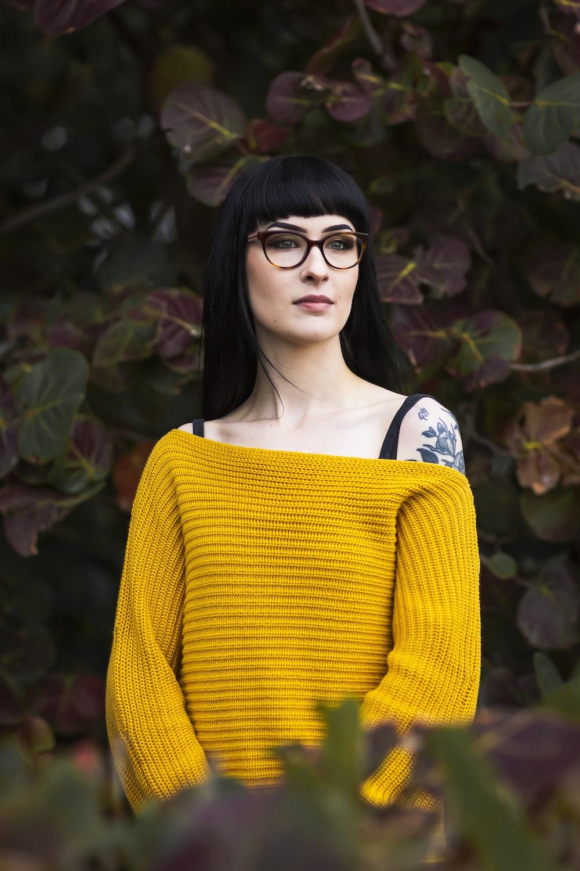 woman wearing yellow sweater during daytime