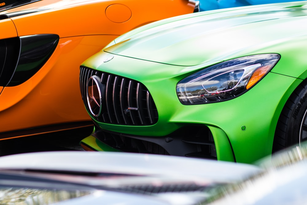 green Mercedes-Benz AMG GT coupe