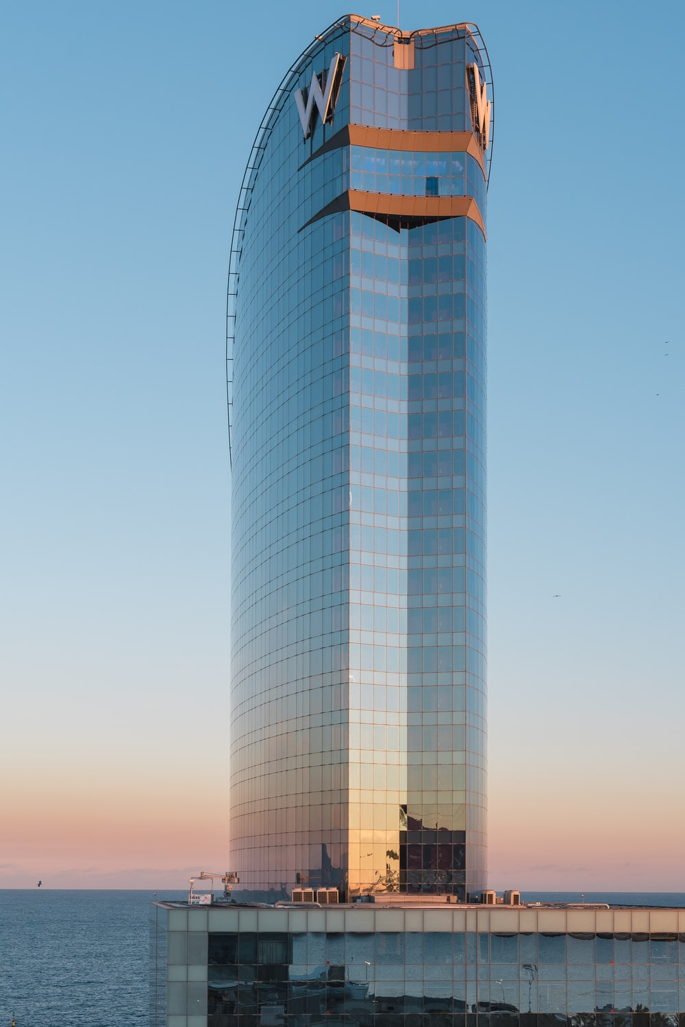 high-rise curtain building during daytime