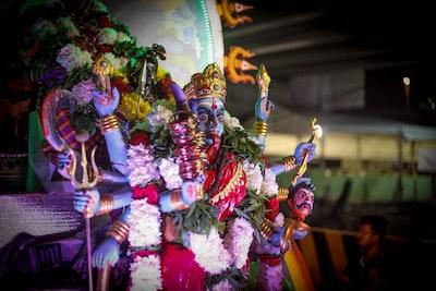 hindu deity at night mardi gras zoom background