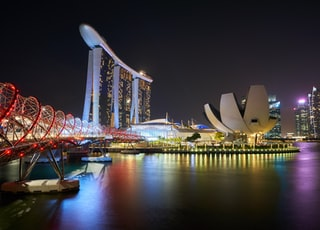 Marina Bay Sands and Hilex bridge, Singapore
