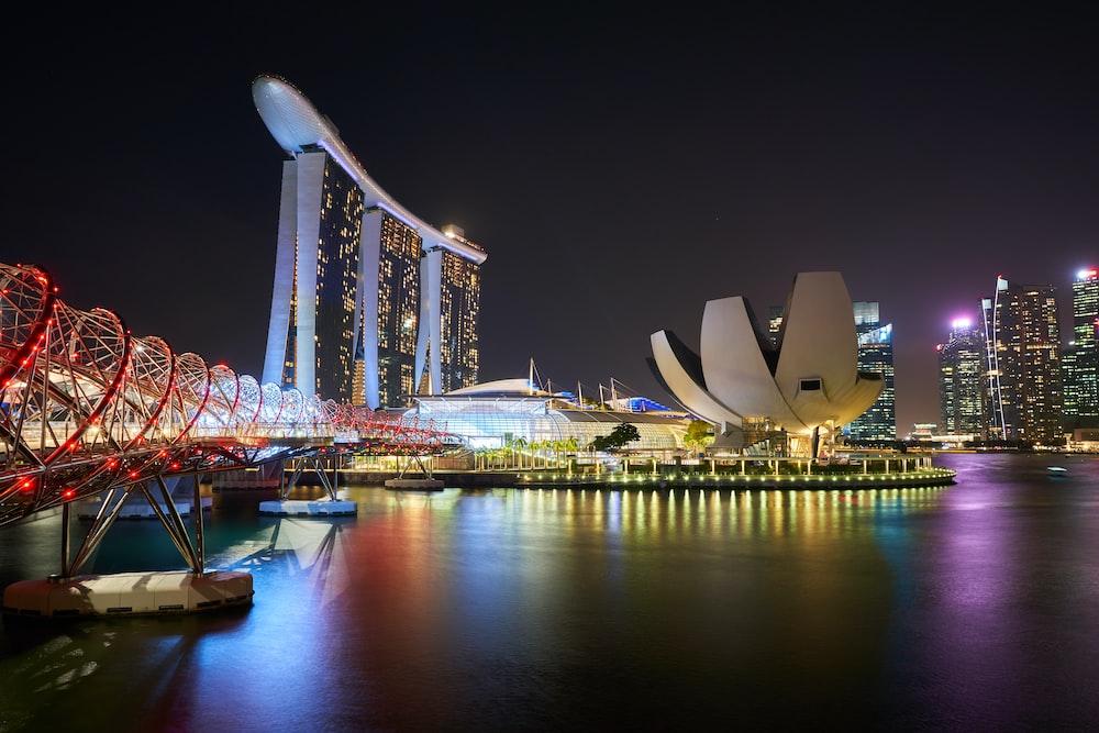 Marina Bay Sands and Hilex bridge, Singapore